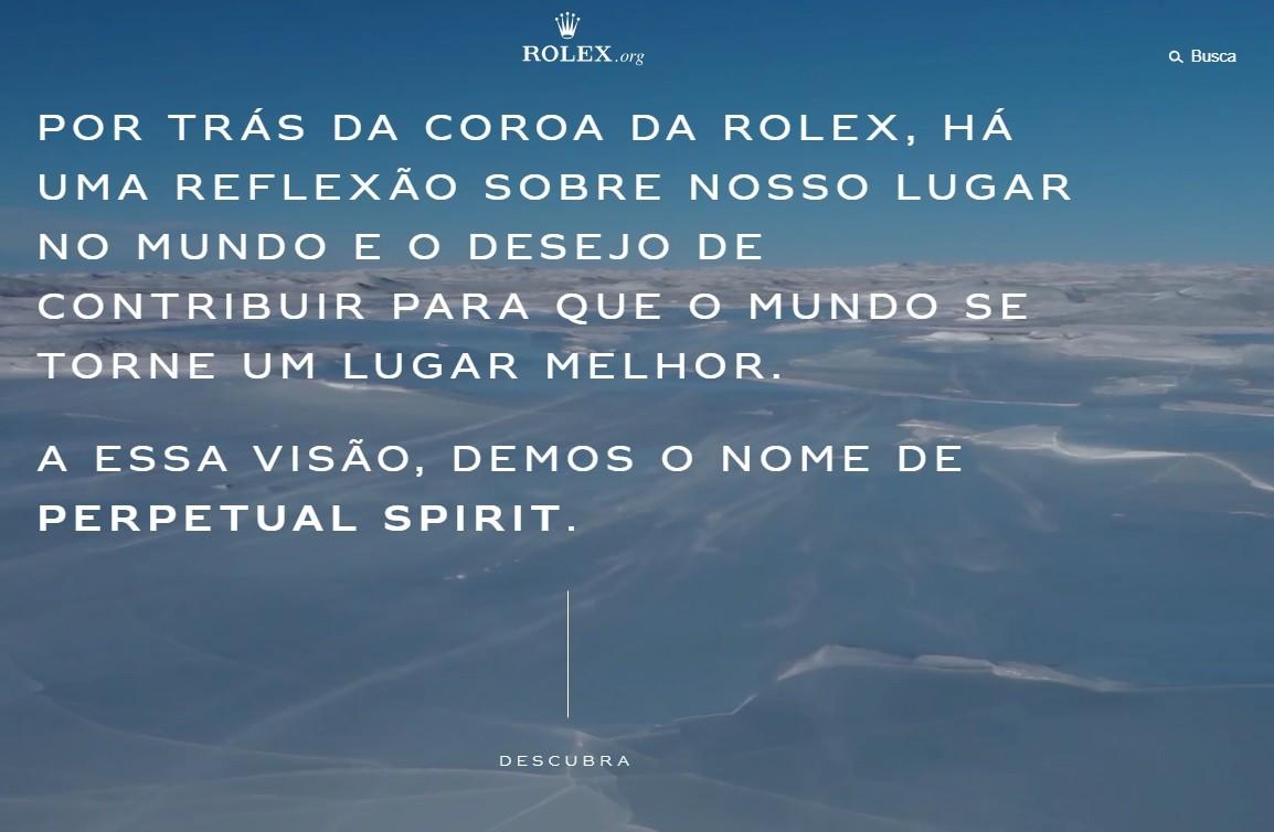 O novo portal da Rolex (Foto: Divulgação)