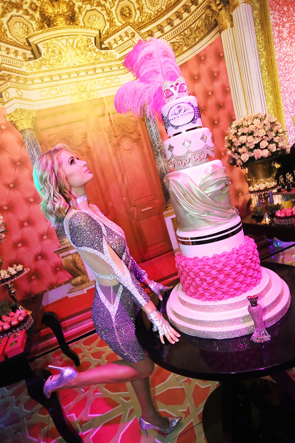 Paris Hilton antecipou comemoração do 37º aniversário em Florianópolis (Foto: Ângelo Santos/Divulgação)
