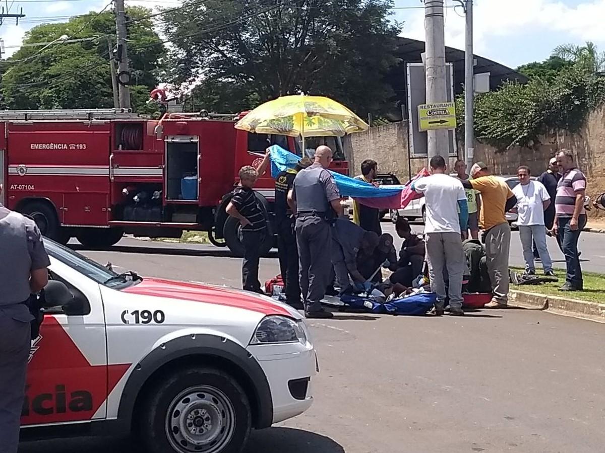 Ciclista é atropelado por ônibus em avenida de Indaiatuba