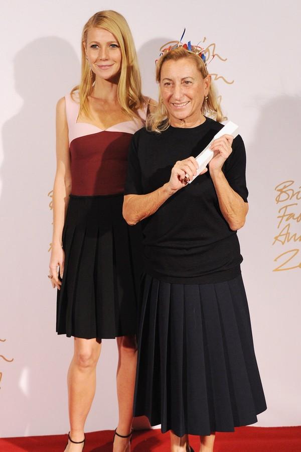 Gwyneth Paltrow e Miuccia Prada (Foto: Getty Images)