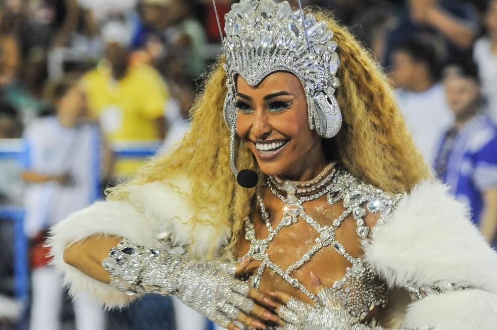 Sabrina Sato, rainha de bateria da Unidos de Vila Isabel — Foto: Alexandre Durão/G1