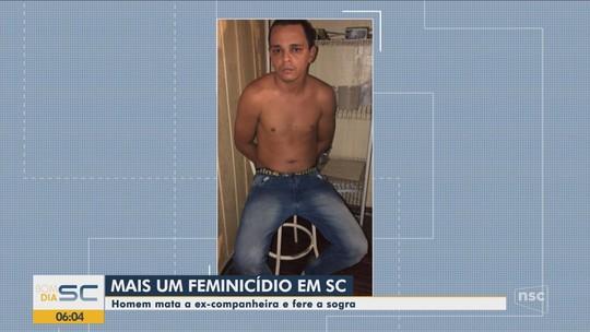 Homem é preso por suspeita de matar companheira a tiros e ferir sogra em Joinville