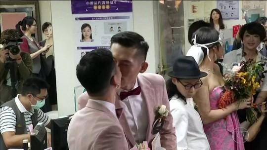 Casamento gay começa a valer em Taiwan