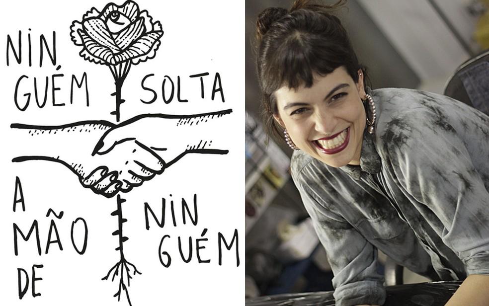 Ninguém solta a mão de ninguem — Foto: Thereza Nardelli/Arquivo pessoal e Kimberly Rennó/Reprodução
