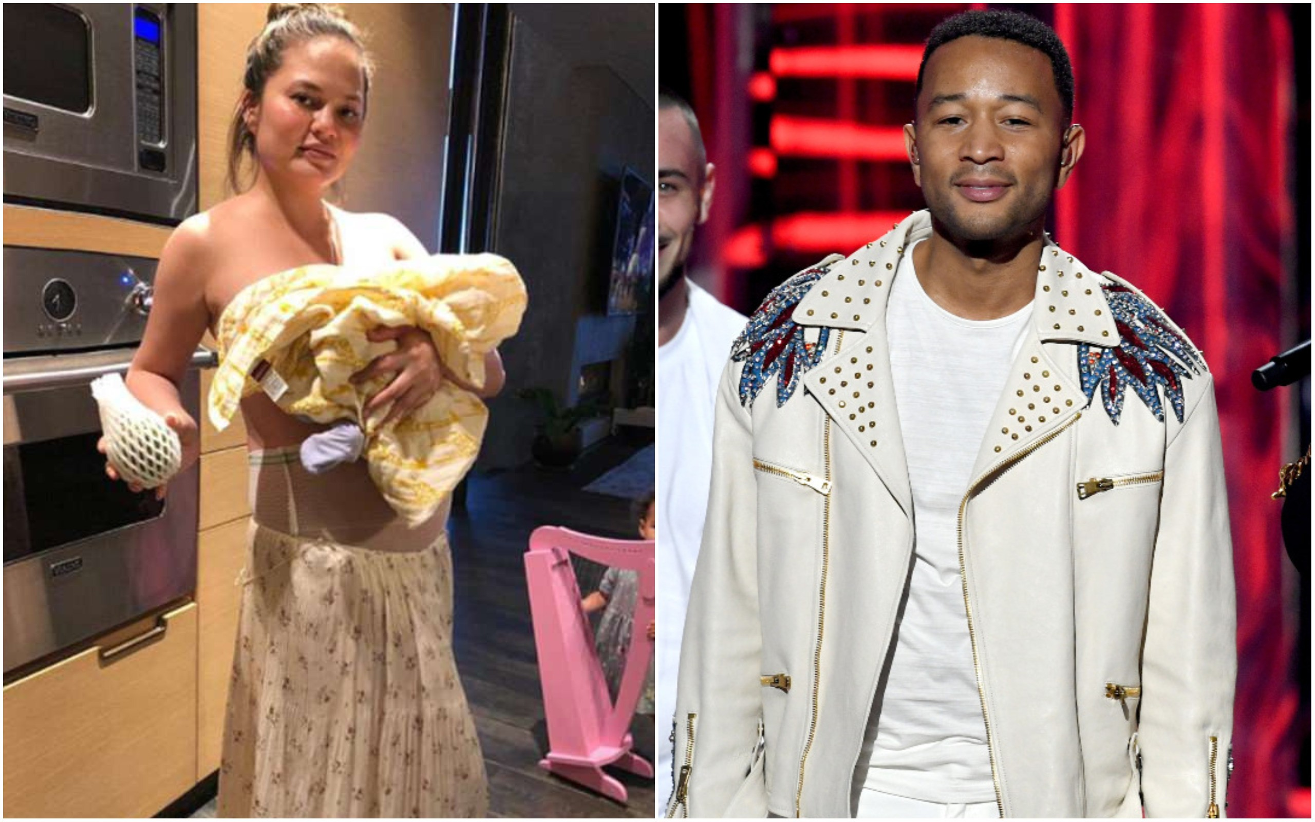Chrissy Teigen e John Legend (Foto: Getty Images / Instagram)