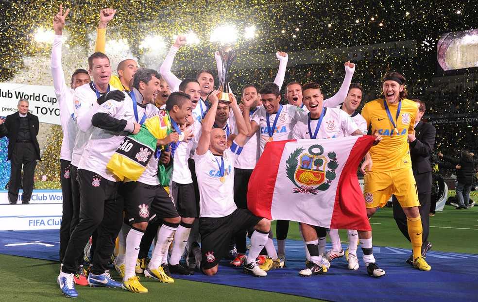 Corinthians campeão do Mundial de Clubes de 2012 — Foto: Getty Images