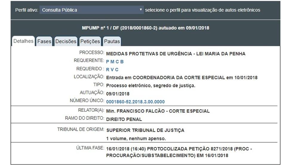 Processo movido pela ex-primeira-dama Pâmela Bório contra o governador da Paraíba Ricardo Coutinho corre em segredo de Justiça no STJ (Foto: Reprodução/STJ)