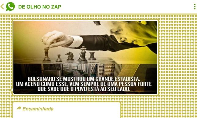 Bolsonaro foi retratado como 'enxadrista' em memes divulgados no WhatsApp e Telegram