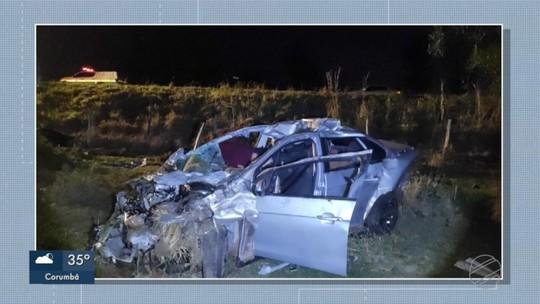 Policias rodoviárias registram 12 acidentes em estradas federais e estaduais de MS