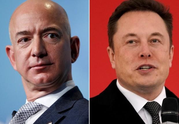 "Elon Musk chama Jeff Bezos de ""imitador"" depois de Amazon anunciar projeto de satélites (Foto: REUTERS/Joshua Roberts)"