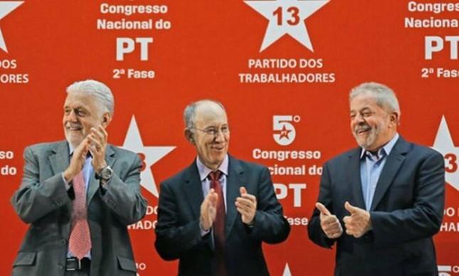 Jaques Wagner, Rui Falcão e Lula (Foto: Ricardo Stuckert / Instituto Lula)