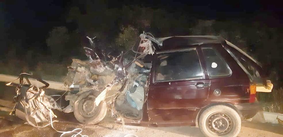 Acidente aconteceu na BR 428, em Petrolina — Foto: Polícia Rodoviária Federal