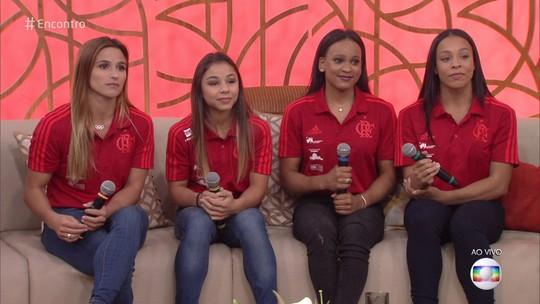 """No """"Encontro"""", ginastas da seleção e do Fla celebram bons resultados e destacam foco por vaga olímpica"""