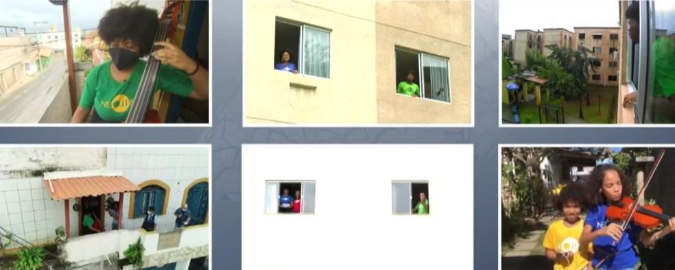 Músicos tocam 'Asa Branca' ao mesmo tempo em Salvador e cidades no interior da Bahia — Foto: Reprodução/TV Bahia