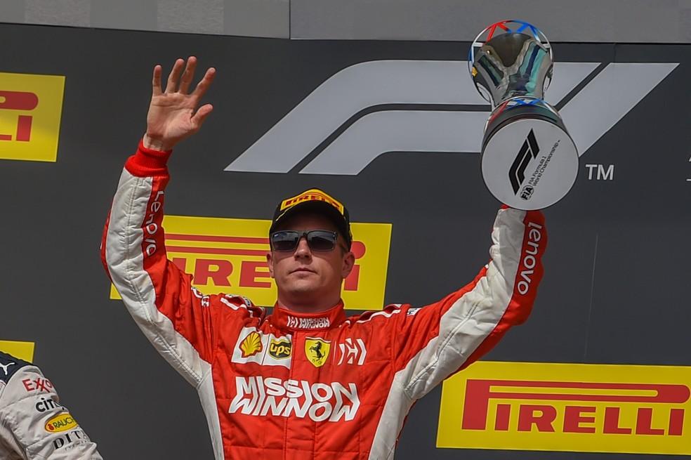 Finlandês é piloto mais experiente do grid, aos 40 anos. Sua última vitória foi pela Ferrari, no GP dos EUA de 2018 — Foto: Getty Images