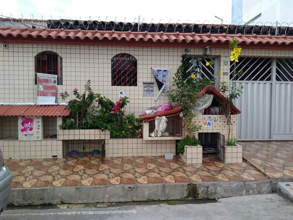 Hotel pet foi criado em frente à casa da servidora pública Raimunda Antônia (Foto: Foto: Reprodução Ádna Figueira)