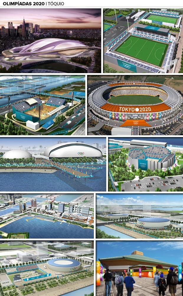toquio olimpiadas 2020 mosaico  (Foto: Divulgação)