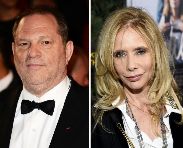 O produtor Harvey Weinstein e a atriz Rosanna Arquette (Foto: Getty Images)