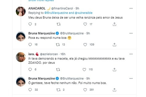Bruna Marquezine respondeu a brincadeira de seguidor (Foto: Reprodução/Twitter)