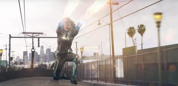 Brie Larson no trailer de Capitã Marvel (Foto: reprodução)