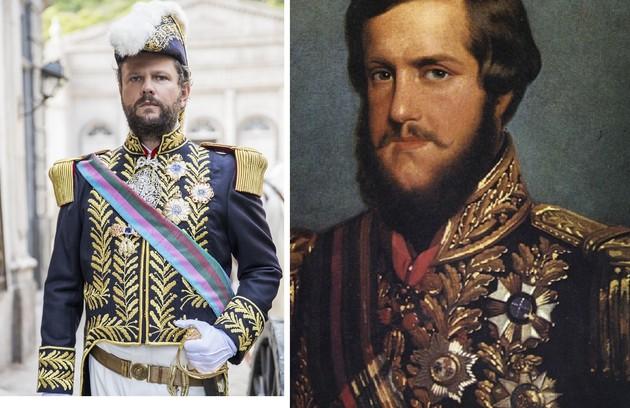 Olha como será o figurino de Selton Mello em 'Nos tempos do Imperador', novela das 18h em que viverá Dom Pedro II. Estreia em agosto (Foto: Globo e arquivo)