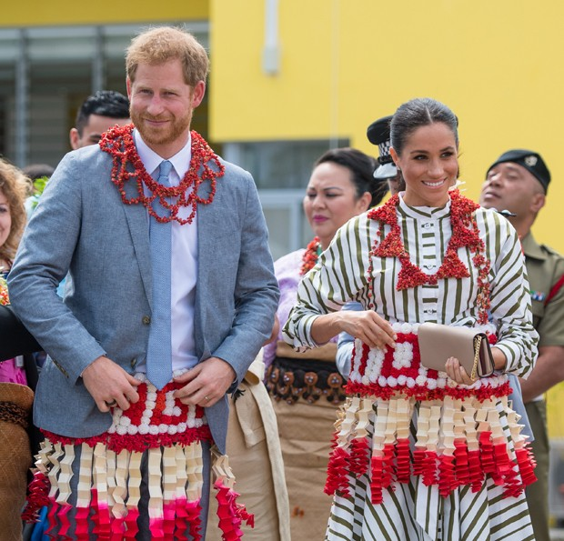 Meghan Markle e o príncipe Harry em Tonga (Foto: Getty Images)