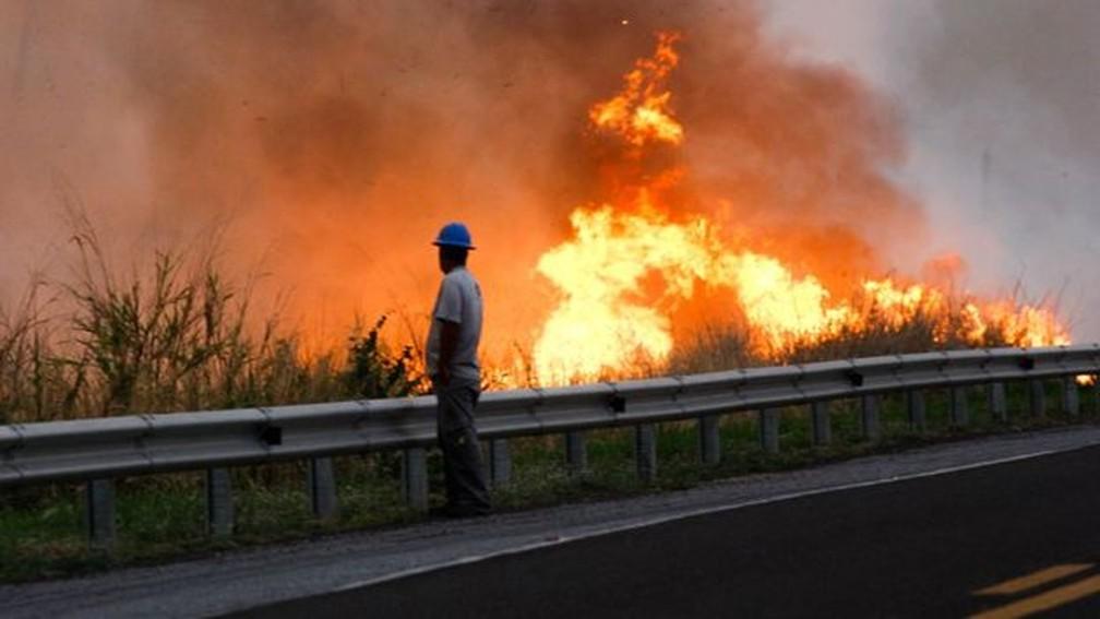 Outubro foi o mês que teve o maior aumento de focos de incêndio — Foto: Chico Ribeiro/Portal do Governo de Mato Grosso do Sul