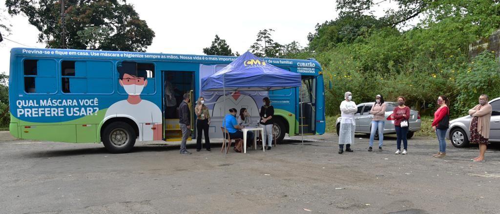 'Ônibus da Covid-19' confirma 1 caso a cada 5 testados em Cubatão, SP