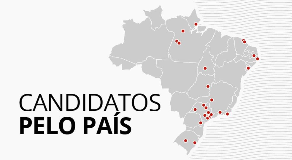 Veja onde candidatos fizeram atos de campanha (Foto: Igor Estrella/G1)