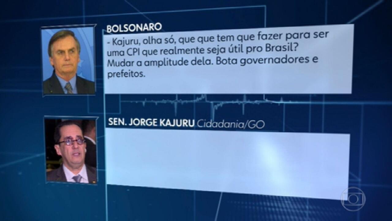 Em conversa com Kajuru, Bolsonaro fala em agredir Randolfe Rodrigues, que pediu instalação de CPI