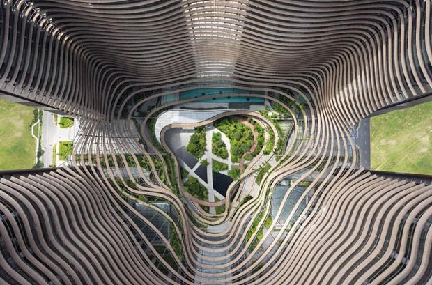 Arquitetos criam vale de prédios no centro de Cingapura (Foto: Divulgação)