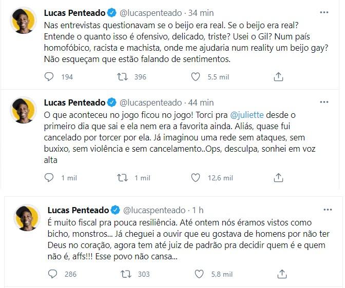 Lucas Penteado no Twitter (Foto: Reprodução/Instagram)