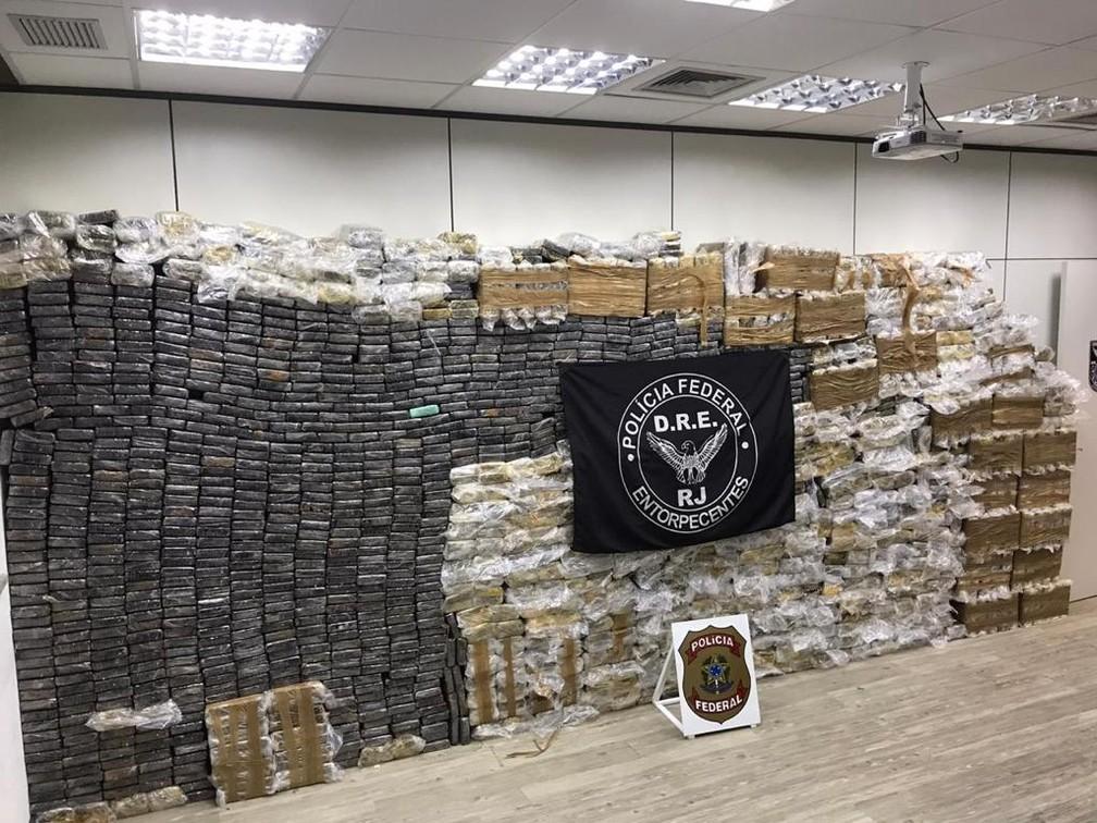 PF apreende 2,5 toneladas de cocaína em Caxias — Foto: Reprodução