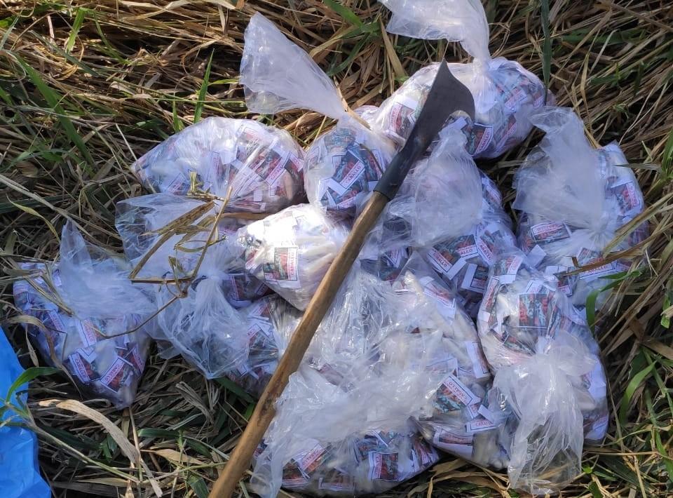 PM apreende 1.700 cápsulas de cocaína em local usado para receber carregamento drogas em Três Rios