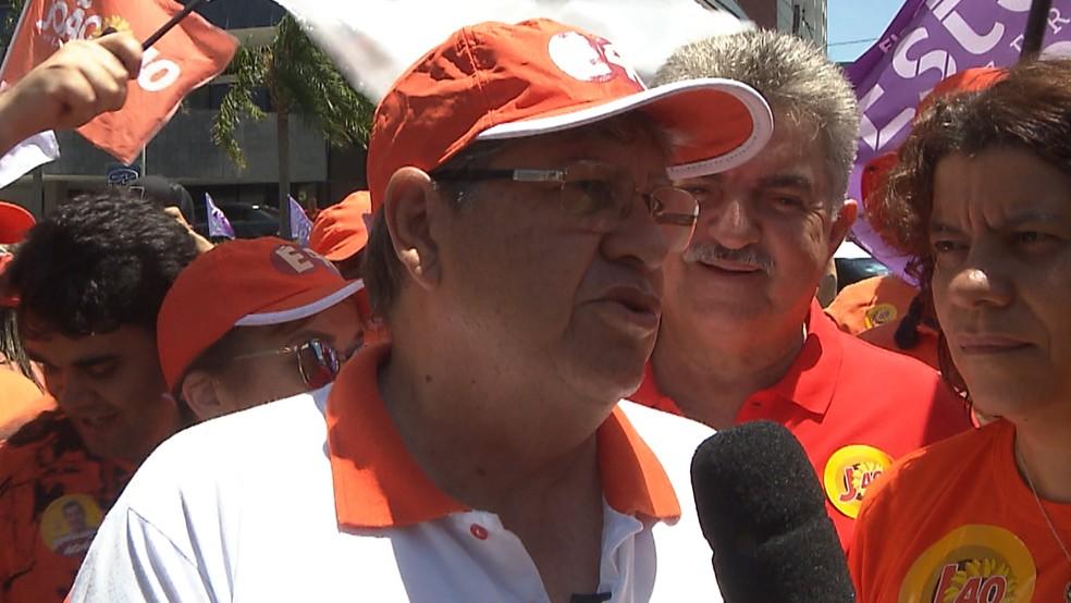 João Azevêdo foi eleito pelo PSB em 2018 — Foto: Reprodução/TV Cabo Branco
