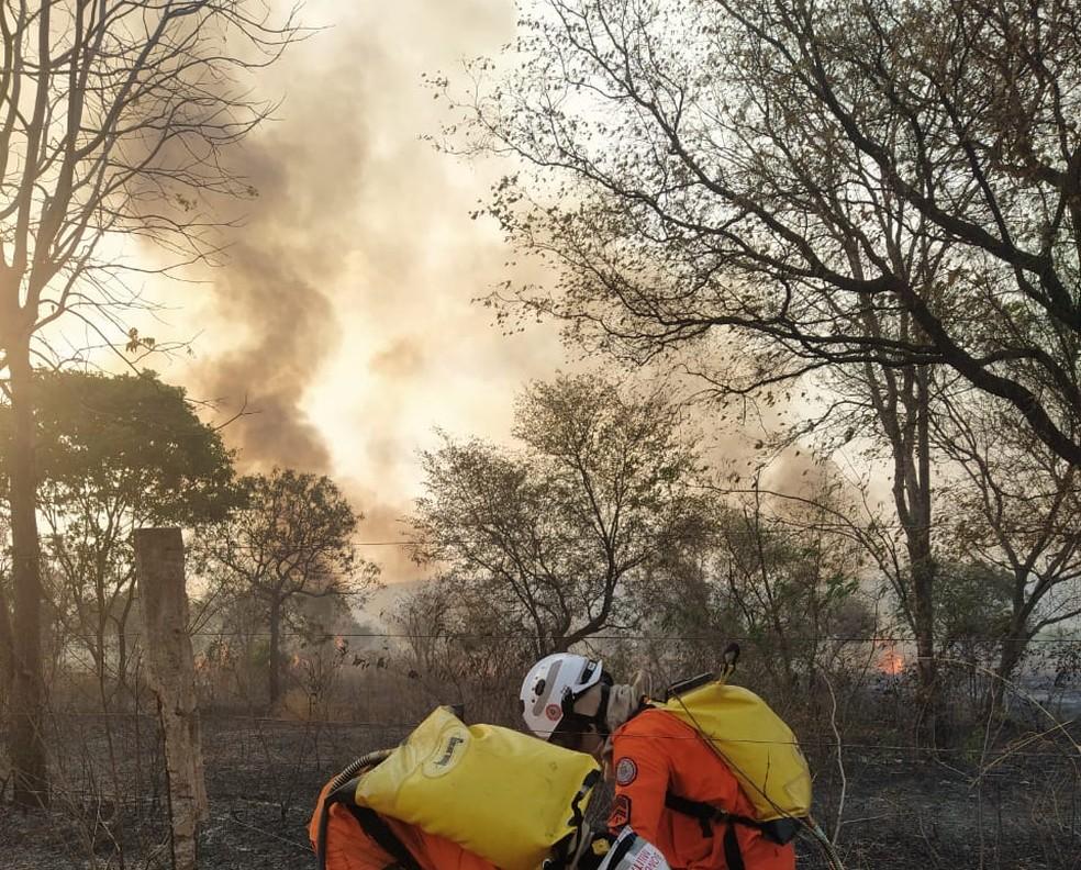 Bombeiros não encontraram focos de incêndio em Barreiras — Foto: Corpo de Bombeiros/Divulgação