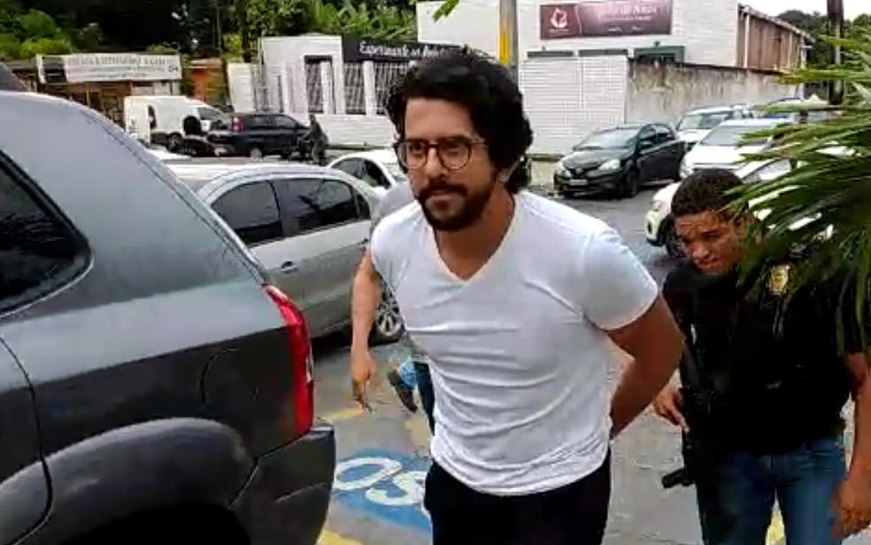 Primo de DJ Jopin preso durante operação que investiga sonegação de R$ 65 milhões — Foto: Paulo Abreu/PCPE