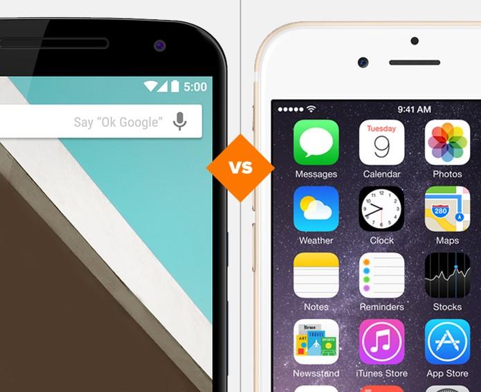 Nexus 6 ou iPhone 6? Quem vence a batalha? (Foto: Arte/TechTudo)