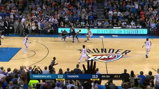 NBA reconhece erro de árbitro em cesta da vitória dos Wolves sobre o Thunder