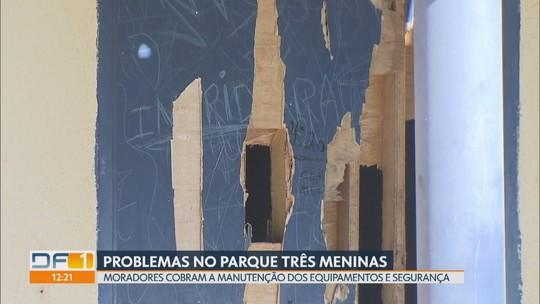 Redação Móvel mostra problemas no Parque Três Meninas, em Samambaia