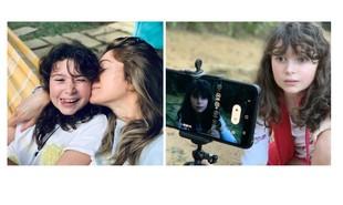 Aos 9 anos, Stella, filha de Letícia Spiller, estreará como atriz interpretando a mãe na infância no filme 'Enquanto seu lobo não vem', de Jorge Farjalla. O curta é rodado na quarentena | Acervo pessoal