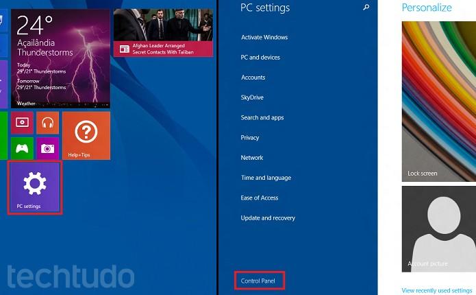 """""""Configurações do computador"""" agora pode abrir o Painel de Controle (Foto: Reprodução/Edivaldo Brito)"""