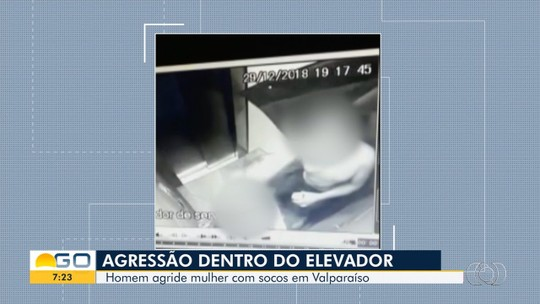 Síndico diz que descobriu vídeo de homem dando socos em mulher no elevador ao checar outro problema no prédio: 'Muito assustado'
