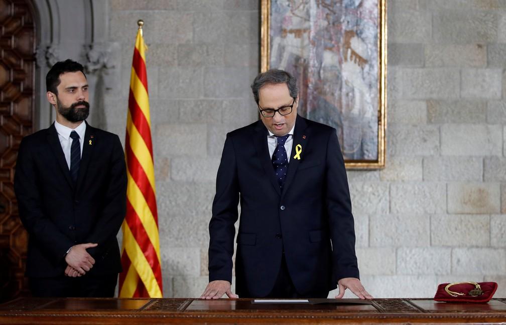-  Quim Torra toma posse como presidente da Catalunha nesta quinta  17   Foto: Alberto Estevez/ Reuters