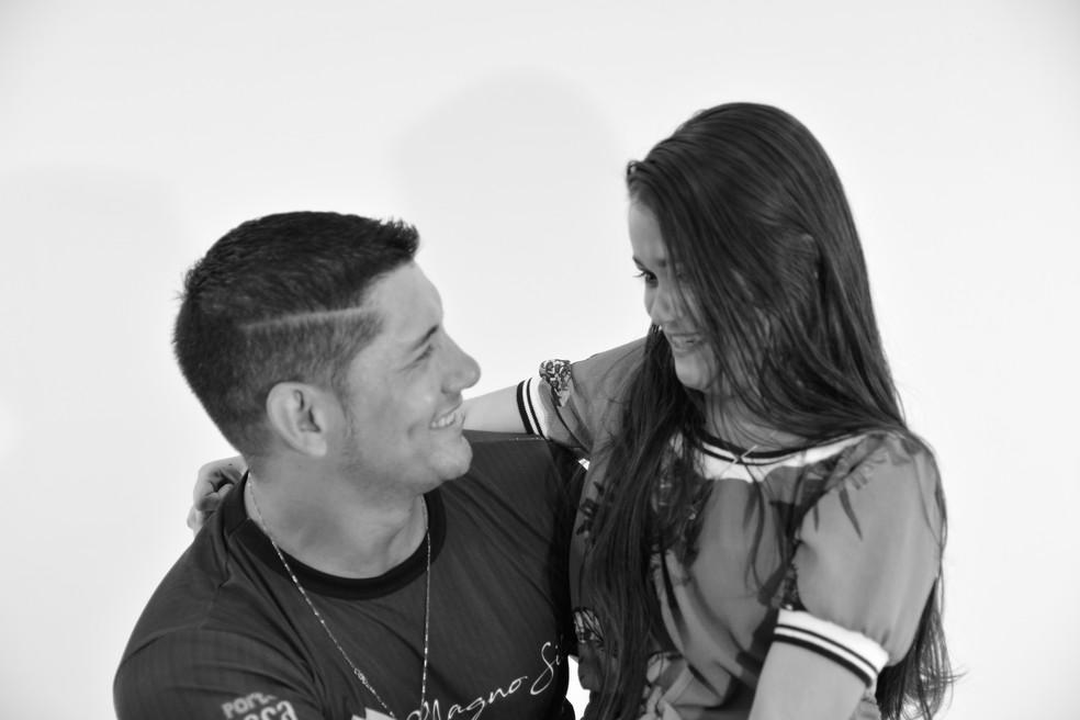 Fotógrafo Magno Dias e a Brenda não perderam contato após o ensaio — Foto: Magno Silva/Arquivo Pessoal