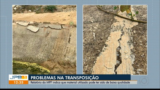 Canal da Transposição tem rachaduras no trecho de Monteiro, na PB, diz MPF