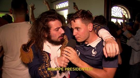 Cartolouco acompanha a final da Copa na Casa da França e faz a festa