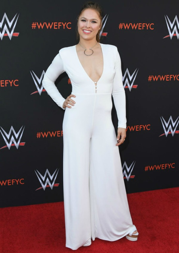 Ronda Rousey em evento do WWE (Foto: Getty Images)