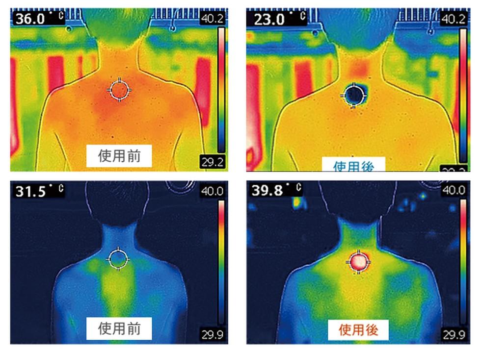 Ar-condicionado vestível esfria ou esquenta principalmente uma pequena região das costas — Foto: Divulgação/Sony