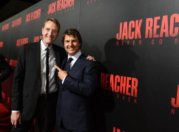 O ator Tom Cruise com o escritor Lee Child (Foto: Getty Images)